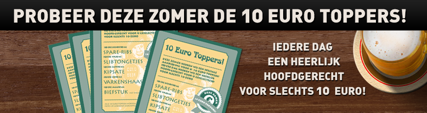 Deze zomer: 10 Euro toppers!