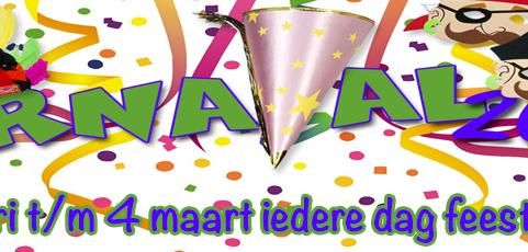 28 februari – 4 maart: Carnaval 2014