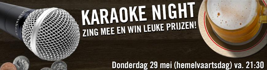 Kom karaoke zingen op hemelvaartsdag in Café de Stee en maak kans op leuke prijzen!